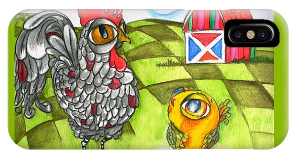 Rooster Cogburn And The Chick IPhone Case