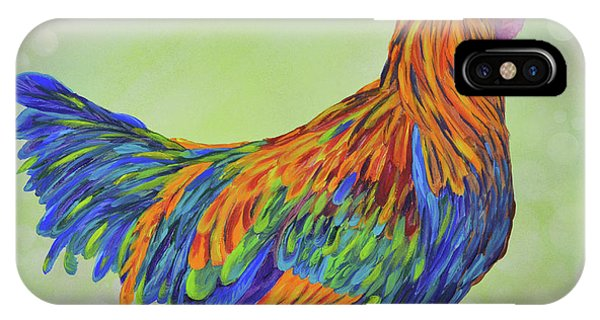 IPhone Case featuring the painting Rooster by Mary Scott