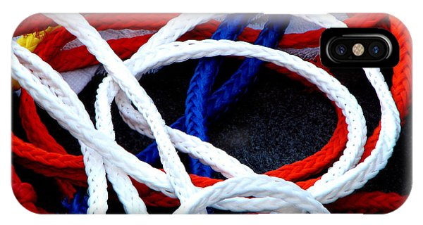 Water Ski iPhone Case - Colored Ski Ropes by Alison Squiers