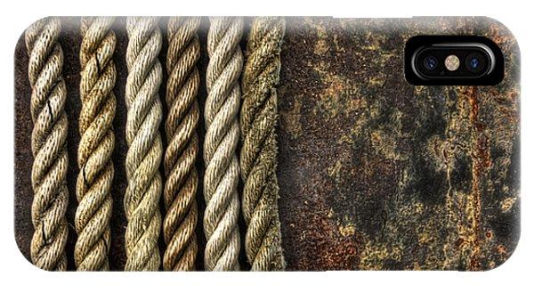 Metal iPhone Case - Ropes by Evelina Kremsdorf