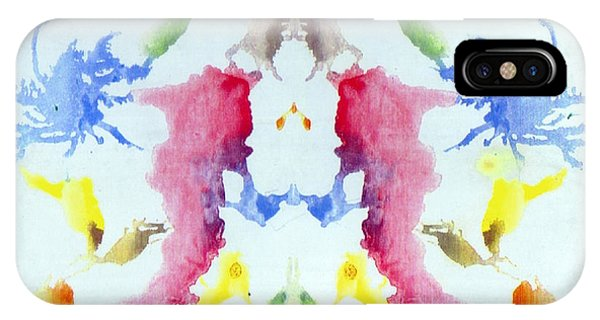 Rorschach Test Card No. 10 IPhone Case