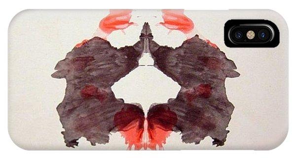 Rorschach Test Card No. 2 IPhone Case