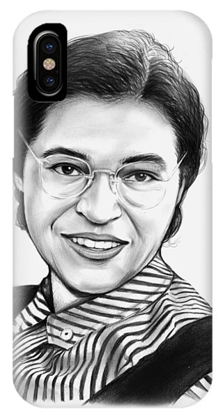Rights iPhone Case - Rosa Parks by Greg Joens