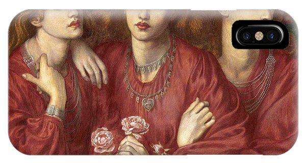 Rosa iPhone Case - Rosa Triplex by Dante Gabriele Rossetti