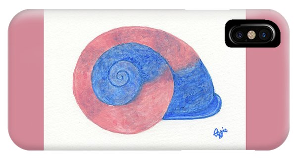 Rose And Blue Shell IPhone Case