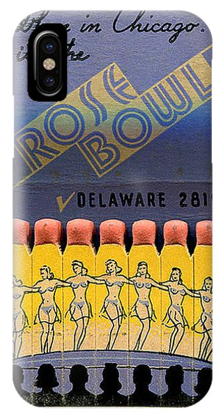 iPhone Case - Rose Bowl Chicago Matches by Reinvintaged