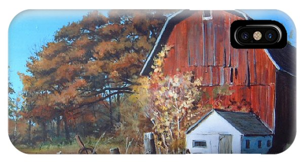 Rose Center Barn IPhone Case