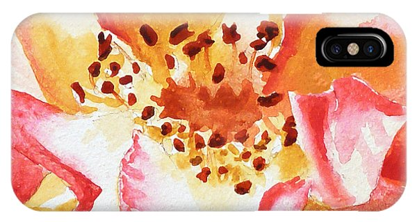 Hyper Realism iPhone Case - Rose Close Up Painting By Irina Sztukowski by Irina Sztukowski