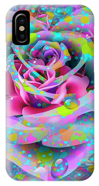 IPhone Case featuring the digital art Rose by Eleni Mac Synodinos