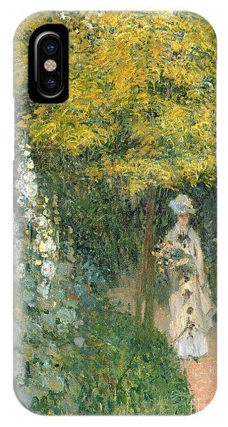 Park iPhone Case - Rose Garden by Claude Monet