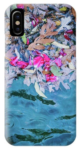 Rose Garden Fountain II IPhone Case