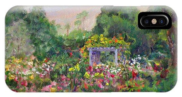 Rose Garden In Bloom IPhone Case