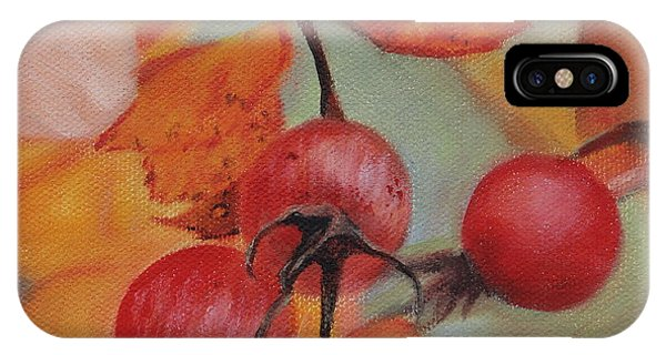 IPhone Case featuring the painting Rose Hips by Tammy Taylor