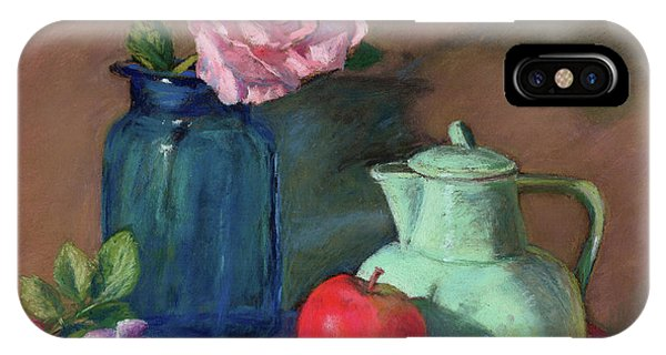 Rose In Blue Jar IPhone Case