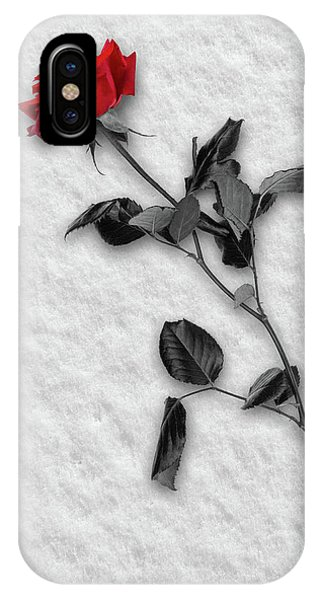 Rose In Snow IPhone Case