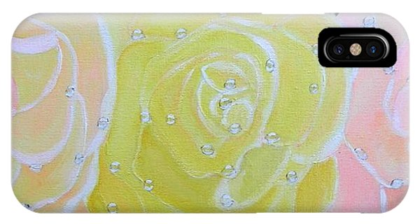 Rose Medley With Dewdrops IPhone Case