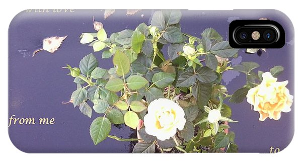 Rose On Glass Table With Loving Wishes IPhone Case