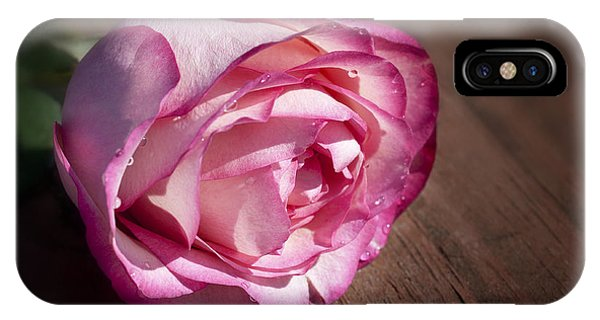 Rose On Wood IPhone Case
