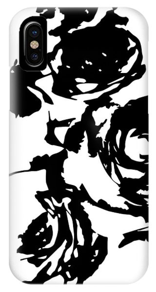Rose Outline IPhone Case
