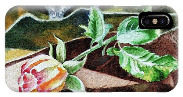 Hyper Realism iPhone Case - Rose Still Life Watercolor Realism  by Irina Sztukowski