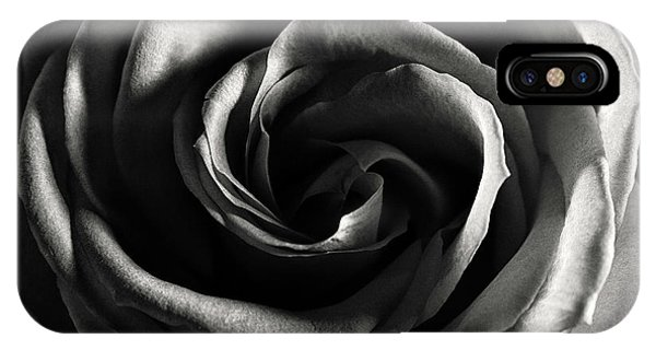 Rose Study 1 In Black And White IPhone Case