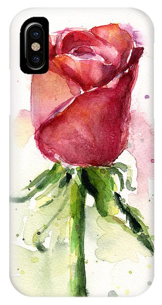 Rose Watercolor IPhone Case