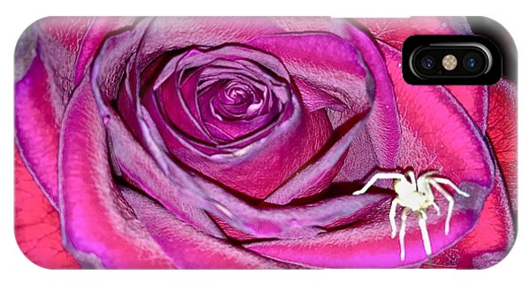 Rose With Spider IPhone Case