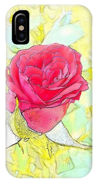 iPhone Case - Rosebud by Kumiko Izumi