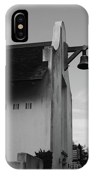 iPhone Case - Rosemary Beach Post Office In Black And White by Megan Cohen