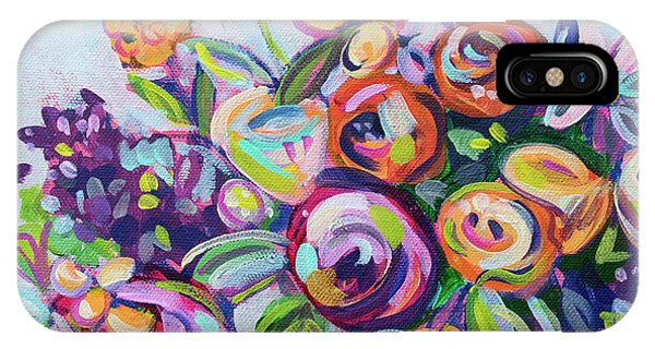 Bright iPhone Case - Roses And Kumquats by Kristin Whitney