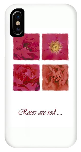 Roses Are Red .... IPhone Case