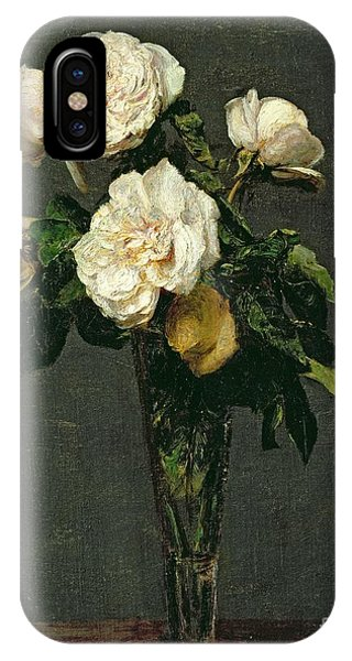 Life iPhone Case - Roses In A Champagne Flute by Ignace Henri Jean Fantin-Latour