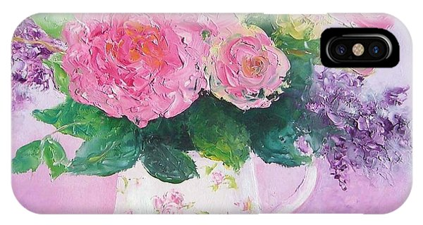 Roses In A Pink Floral Jug IPhone Case
