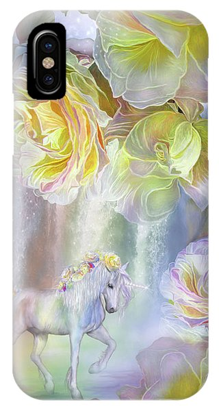 Pastel Colors iPhone Case - Roses In The Mist by Carol Cavalaris