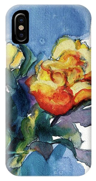 Roses In Vase Still Life I IPhone Case