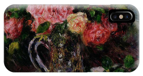Horticulture iPhone Case - Roses by Pierre Auguste Renoir