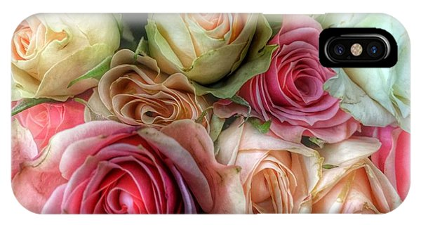 IPhone Case featuring the photograph Roses- Pink And Cream by Marianna Mills
