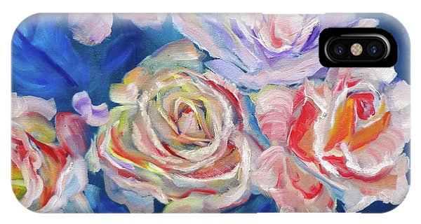 Roses, Roses On Blue IPhone Case