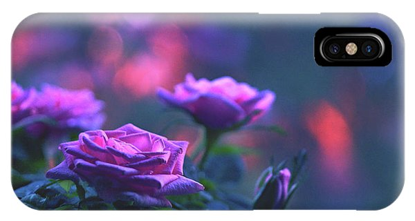 IPhone Case featuring the photograph Roses With Evening Tint by Lance Sheridan-Peel