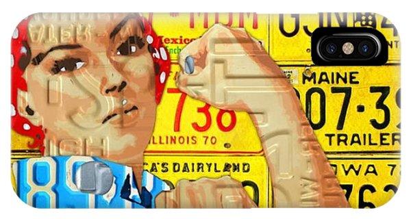 Vintage iPhone Case - #rosie  #metal #art #licenseplate by Design Turnpike