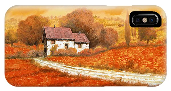 Arched iPhone Case - Rosso Papavero by Guido Borelli