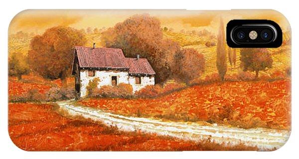 Landscape iPhone Case - Rosso Papavero by Guido Borelli