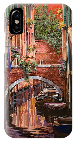 Orange Sunset iPhone Case - Rosso Veneziano by Guido Borelli