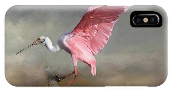 Spoonbill iPhone Case - Rosy by Donna Kennedy