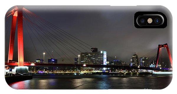Rotterdam - Willemsbrug At Night IPhone Case