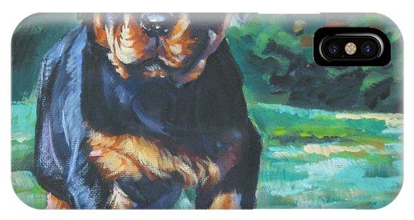 Pup iPhone Case - Rottweiler Pup by Lee Ann Shepard