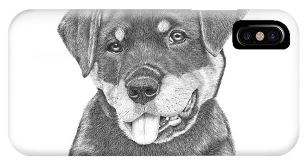 Rottweiler Puppy- Chloe IPhone Case