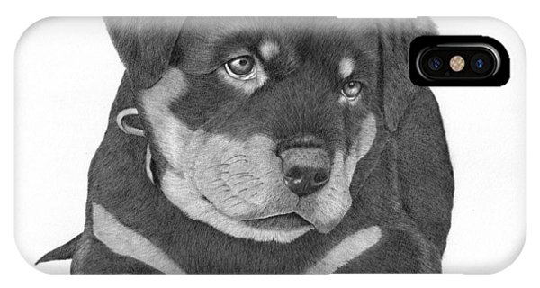 Rottweiler Puppy IPhone Case