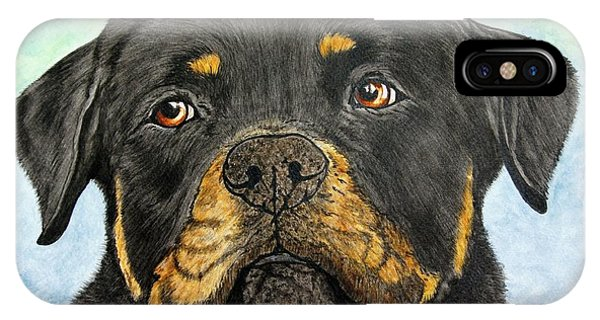 iPhone Case - Rottweiler's Sweet Face 2 by Megan Cohen