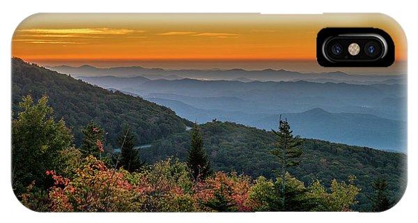 Rough Morning - Blue Ridge Parkway Sunrise IPhone Case